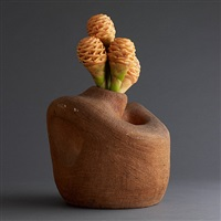 amorphic ceramic vase in clay