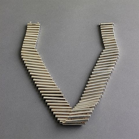 robert lee morris sterling silver dna twisted necklace with original pouch and box by robert lee morris