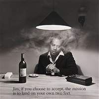 jim, if you choose to accept, the mission is to land on your own two feet. by carrie mae weems