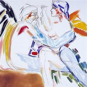 los angeles no 22 painting drawing by ronald brooks kitaj