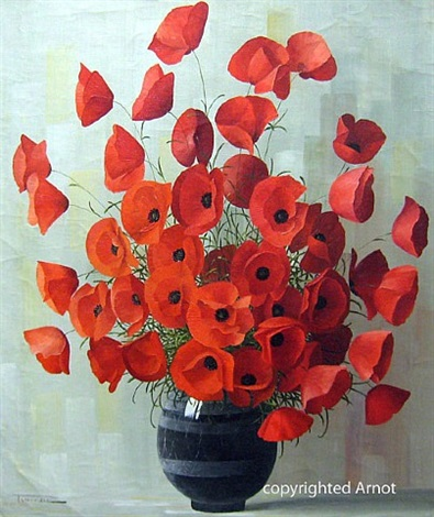 red poppies by elizabeth rouviere