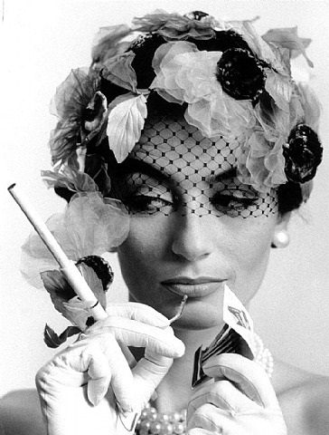 anouk aimée and cigarette holder by william klein