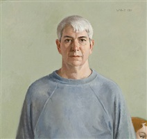 self portrait with sweatshirt by robert wilbert