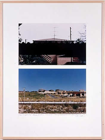 top: corregated shed: adelaide, australia 1996; bottom: housing under construction: perth, australia 1996 by dan graham