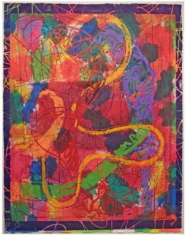 estoril five ii, from the circuits series by frank stella