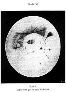 percival lowell, mars - plate vi, 1894