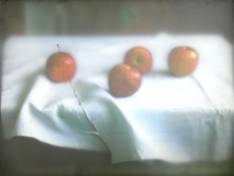 a still life with apples by seontae hwang