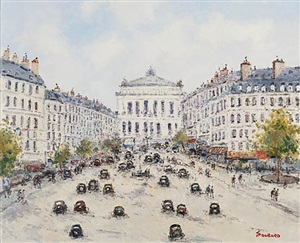 paris – avenue de l'opera by jean pierre dubord