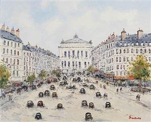 paris – avenue de l'opera by jean pierre dubord