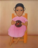 niña en rosa by gustavo montoya