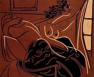 femme regardant par la fenetre by pablo picasso