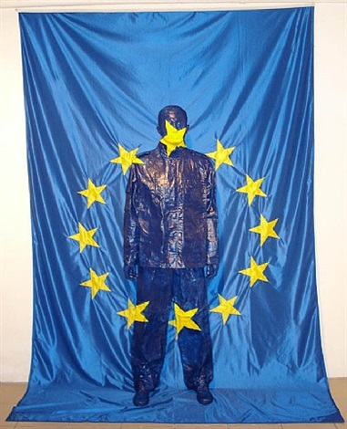 ue flag by liu bolin