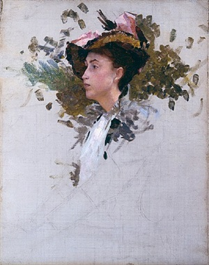 "study for ""portrait, crecy-en-brie, france"" by frank vincent dumond"