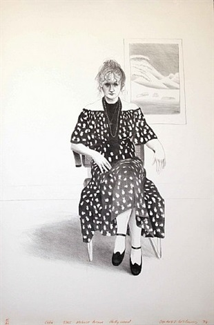 celia, 8365 melrose avenue, hollywood by david hockney