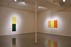 installation view of new glass paintings by thor vigfusson