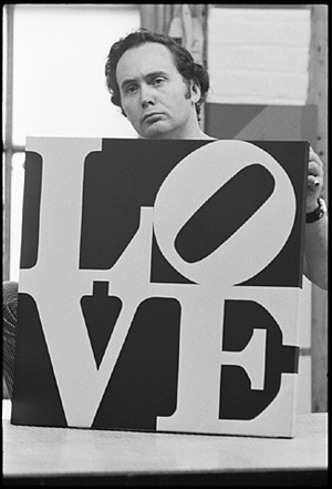 robert indiana holding love by william john kennedy