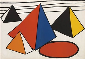 composition with four pyramids by alexander calder
