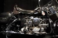 elvis' 1957 harley-davidson hydra glide motorcycle, graceland, memphis, tennessee by annie leibovitz