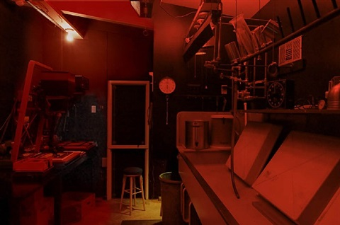 ansel adams' darkroom, carmel, california by annie leibovitz