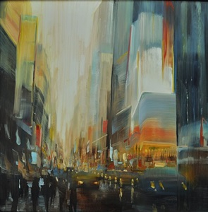 new york city, times square (sold) by david allen dunlop