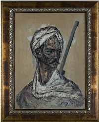portrait of a soldier from tehran (inventory #12006c) by cyrus afsary