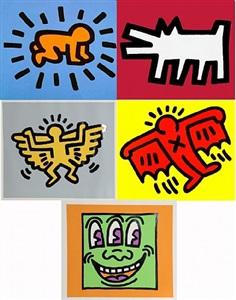 icons portfolio (5 arbeiten) by keith haring