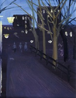 washington square park by alex katz