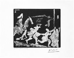 capee et epee: poursuite i, from the 347 series, 15 may, 1968, mougins by pablo picasso