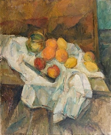 nature morte aux fruits by michel kikoïne