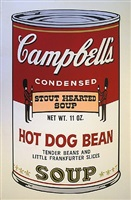 campbell's soup ll, hot dog bean by andy warhol