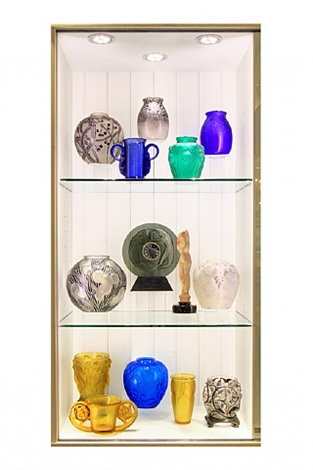 an important collection of fourteen masterworks by the distinguished french glass maker, rene lalique (1860-1945) by rené lalique
