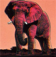 african elephant ii.293 by andy warhol