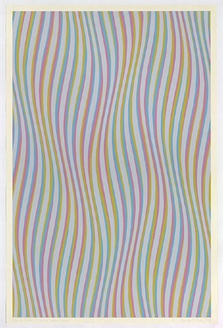 series 12a, with its grey, in double reverse by bridget riley