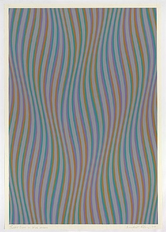 twisted curve in single reverse by bridget riley