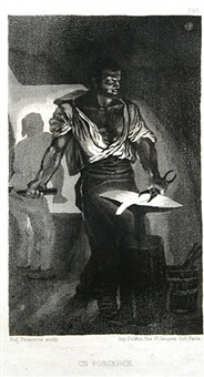 un forgeron (a blacksmith) by eugène delacroix