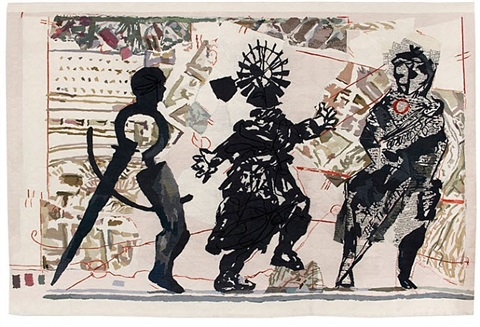 3 figures by william kentridge