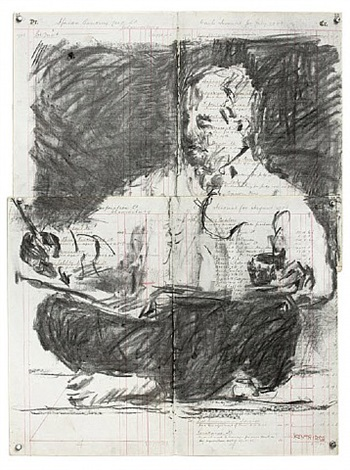 scribe (african banking corporation limited) by william kentridge