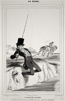 danger of the passions (from la pêche) by honoré daumier