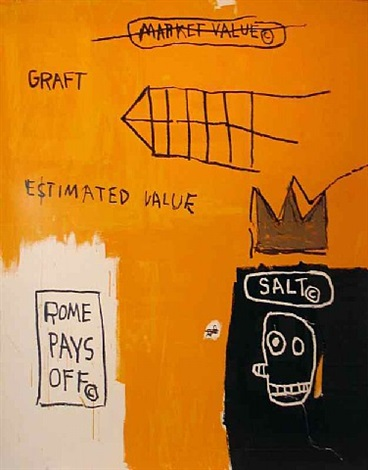 rome pays off (set ii) by jean-michel basquiat