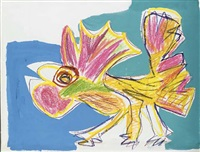 the rooster by karel appel