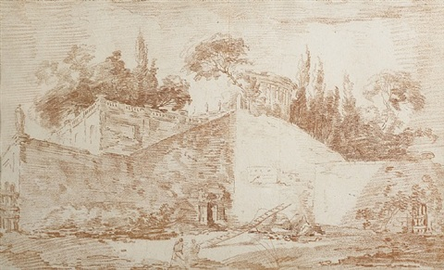 master drawings in new york sanguines by hubert robert
