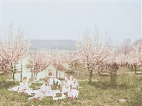 walter at the cherry blossom picnic by aislinn leggett