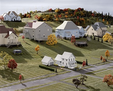 landscape with houses (dutchess county, ny) # 8 by james casebere