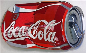 crushed coke can by diederick kraaijeveld