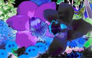 in the night garden, supernova by marc quinn