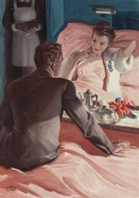 great son, cosmopolitan magazine interior story illustration by walter martin baumhofer