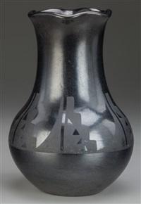 san ildefenso blackware vase by maria and julian martinez