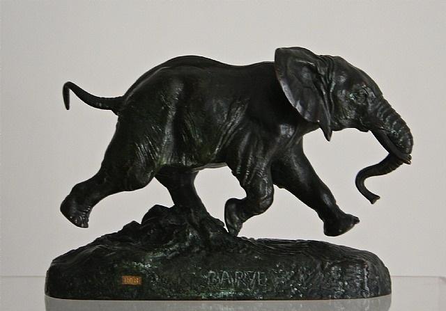 eléphant du sénégal by antoine-louis barye