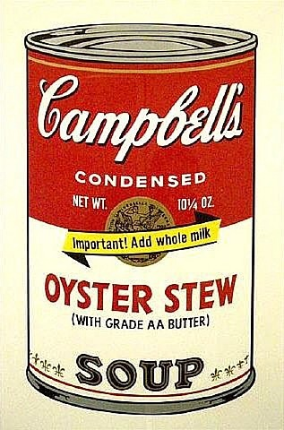 oyster stew from campbell's soup ii by andy warhol