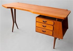 teak desk by louis van teeffelen for webe by louis van teeffelen